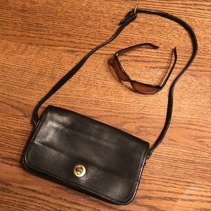 Coach Black Leather Purse  Vintage